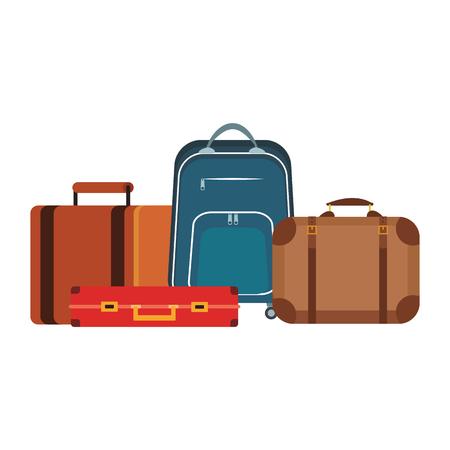 Voyage bagages équipement vector illustration graphisme
