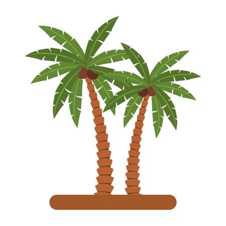 Beach palm trees vector illustration graphic design Vektorové ilustrace