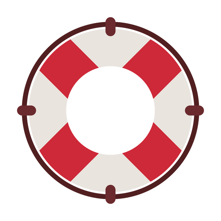 Ring lifesaver float vector illustration graphic design