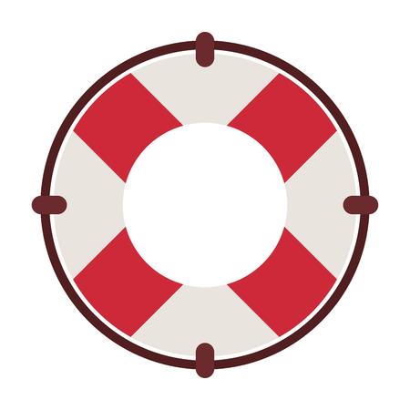 Ring lifesaver float vector illustration graphic design
