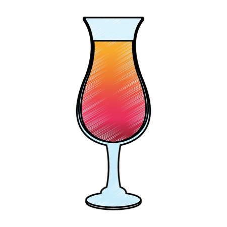 Cocktail glass cup vector illustration graphic design