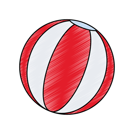 Beach ball isolated vector illustration graphic design