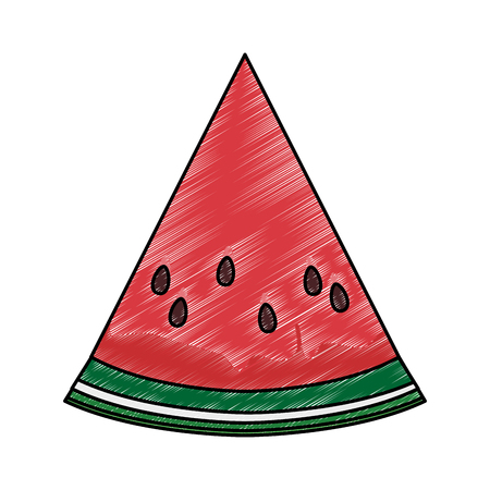 Watermelon sliced fruit vector illustration graphic design