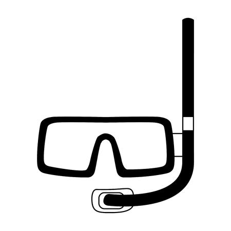 Grafikdesign der Tauchmaskenausrüstung Vektorillustration