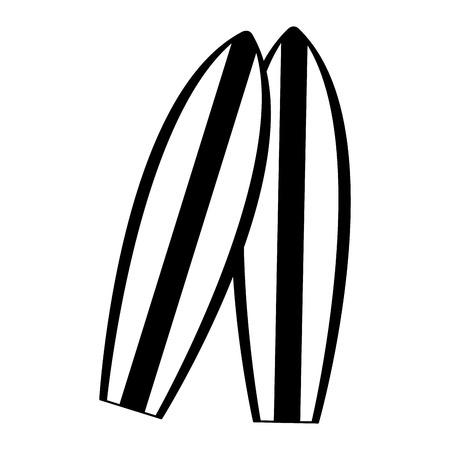 Surf tables cartoon vector illustration graphic design Vectores