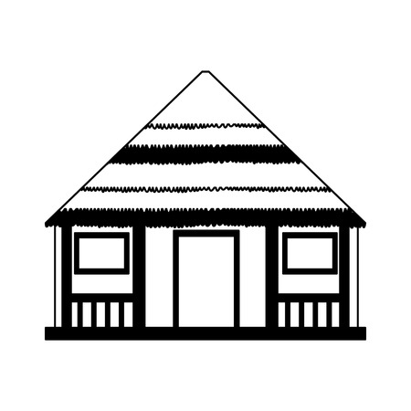 Wooden house isolated vector illustration graphic design