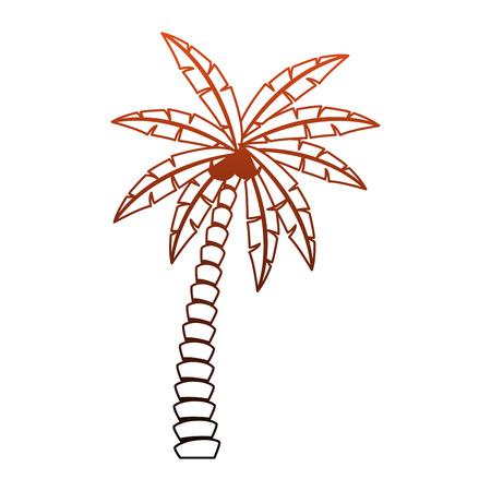 Beach palm tree vector illustration graphic design Vektorové ilustrace