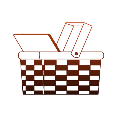 Open picnic basket vector illustration graphic design