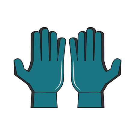 Soccer goalkeeper gloves vector illustration graphic design Vectores