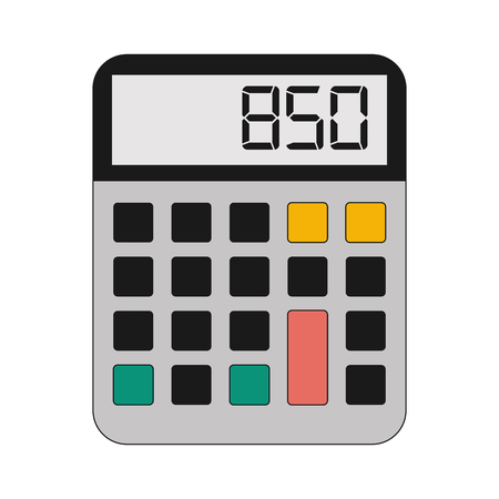 Calculator math device vector illustration graphic design