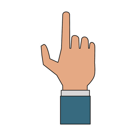 Hand clicking with finger vector illustration graphic design