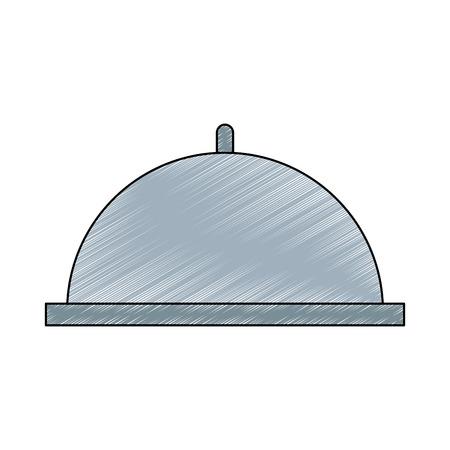 Restaurant dish dome vector illustration graphic design Illustration