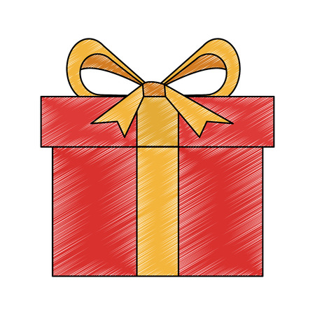 Gift box isolated vector illustration graphic design