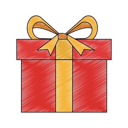 Gift box isolated vector illustration graphic design Illustration