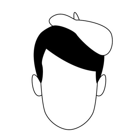 Man painter artist face vector illustration graphic design