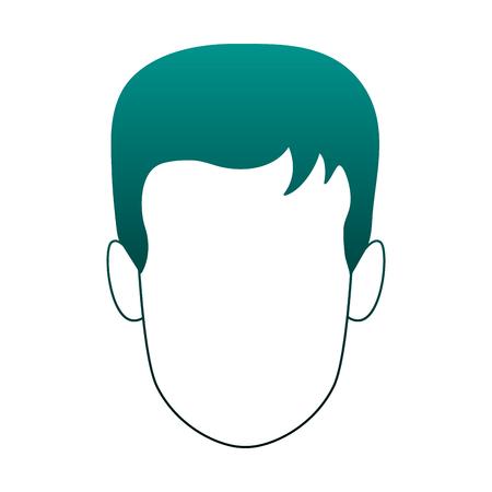 Man faceless cartoon vector illustration graphic design Illustration