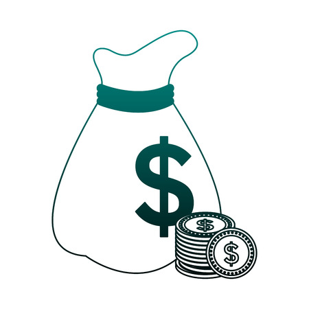 Money bag isolated vector illustration graphic design