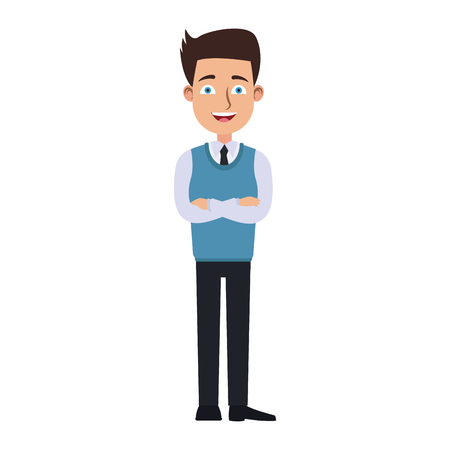 Executive businessman cartoon vector illustration graphic design Illustration