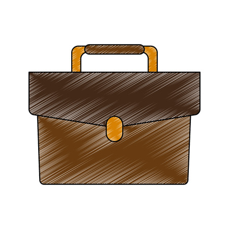 Business briefcase symbol vector illustration graphic design Illustration