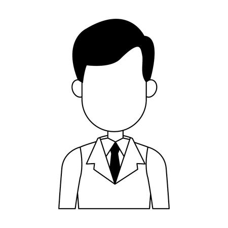 Executive businessman faceless cartoon vector illustration graphic design