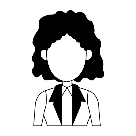 Executive business woman cartoon vector illustration graphic design