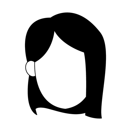 Young woman faceless vector illustration graphic design