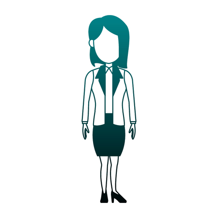 Executive business woman cartoon vector illustration graphic design