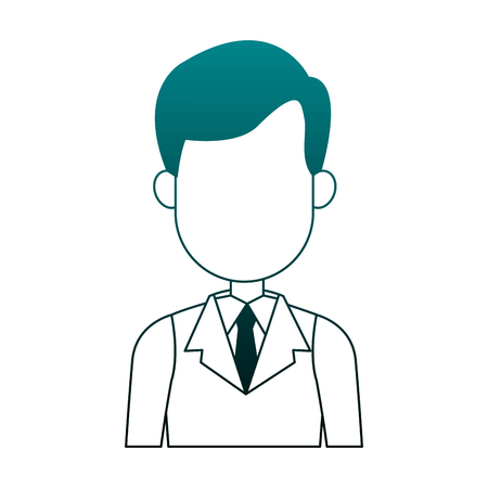 Executive businessman faceless cartoon vector illustration graphic design Foto de archivo - 101925304