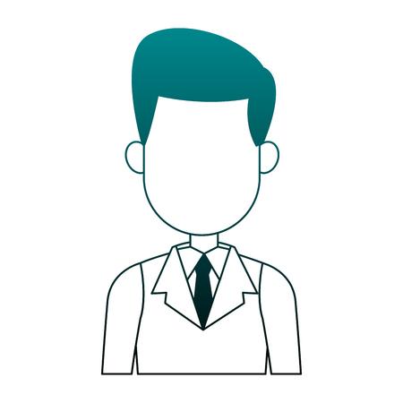 Gesichtsloser Karikaturvektorillustrationsgrafikentwurf des ausführenden Geschäftsmannes