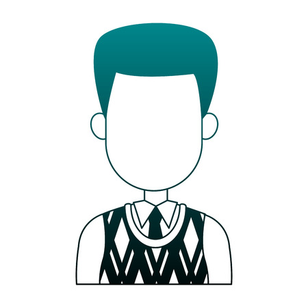 Executive businessman faceless cartoon vector illustration graphic design