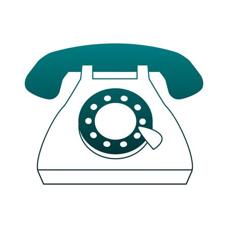 Vintage telephone cartoon vector illustration graphic design Illustration