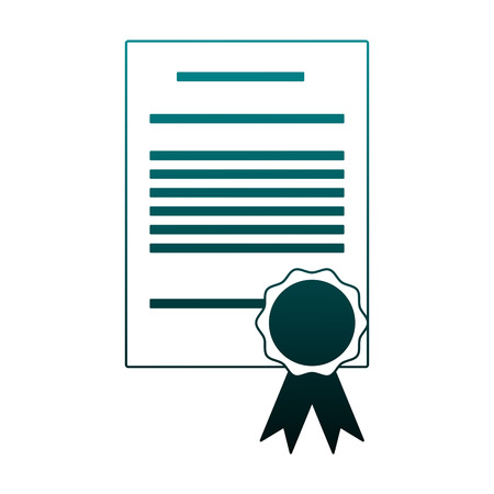 Diploma education certification vector illustration graphic design Illustration