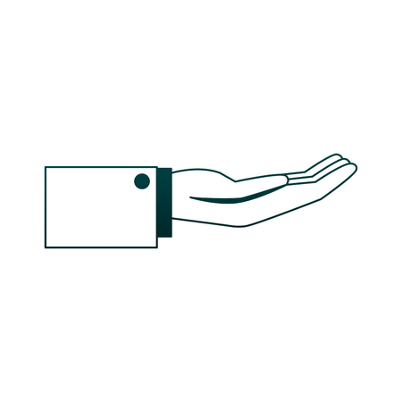 Hand with palm open vector illustration graphic design