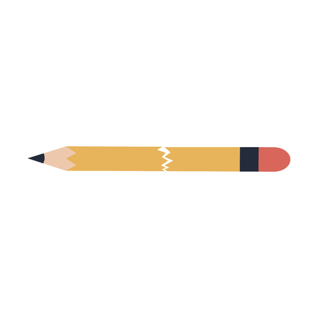 Wooden pencil isolated vector illustration graphic design