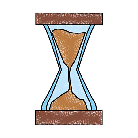 Hourglass sand time vector illustration graphic design