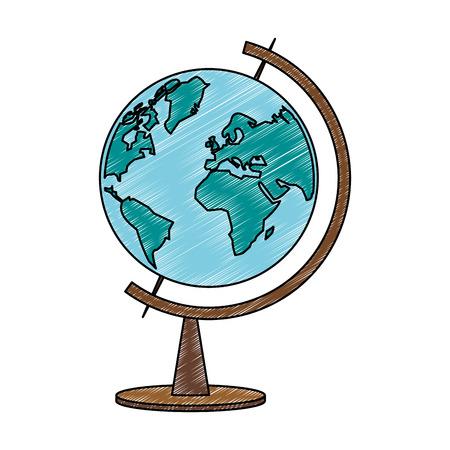 World globe symbol vector illustration graphic design