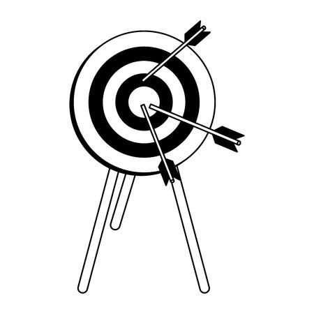 Zieldartscheibensymbolvektor-Illustrationsgrafikdesign Vektorgrafik