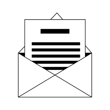 Envelope with letter vector illustration graphic design  イラスト・ベクター素材