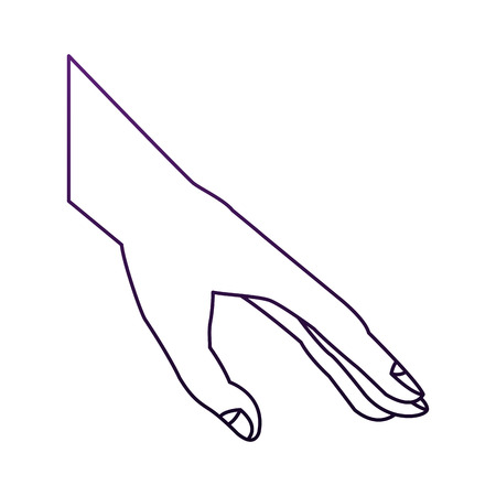 Hand palm open vector illustration graphic design  イラスト・ベクター素材