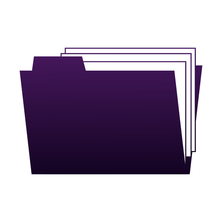 Folder with documents vector illustration graphic design Illusztráció
