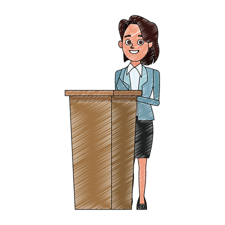 Politician speaking cartoon vector illustration graphic design