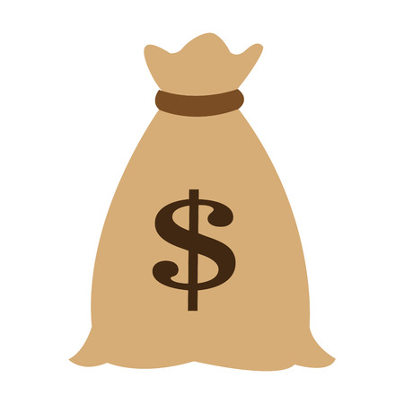 Money bag cartoon vector illustration graphic design