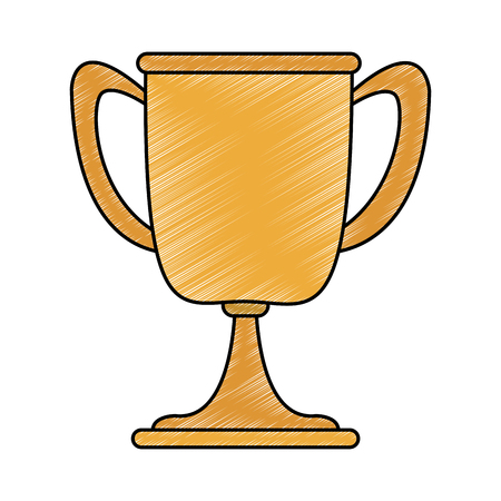 Cup trophy symbol vector illustration graphic design