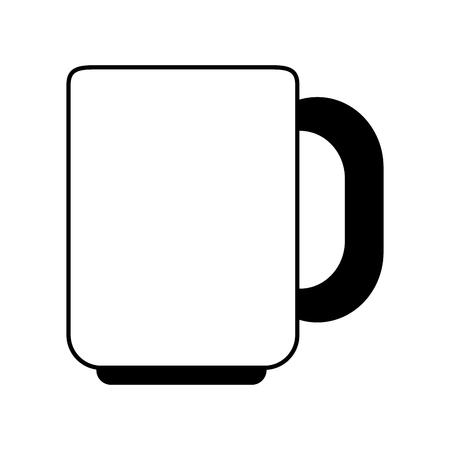 Coffee mug isolated vector illustration graphic design Illusztráció