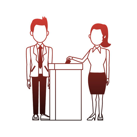 Politiciens votant dessin animé vector illustration graphisme Vecteurs