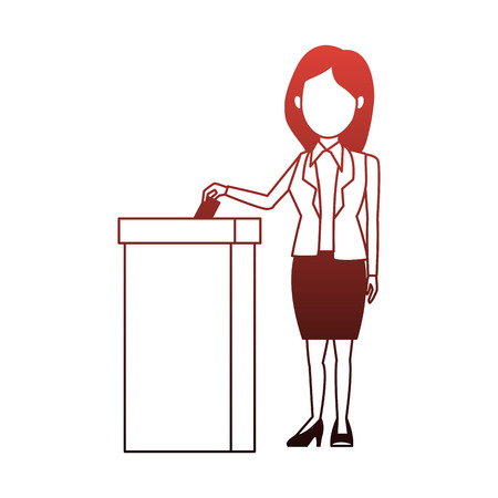 Politician voting cartoon vector illustration graphic design