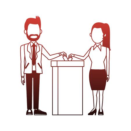 Politicians voting cartoon vector illustration graphic design Illustration