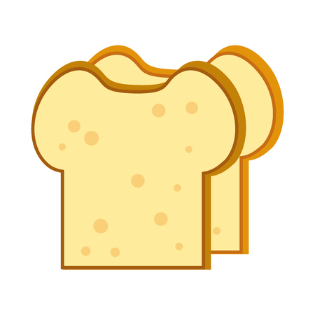Delicious bread slices vector illustration graphic design Illustration