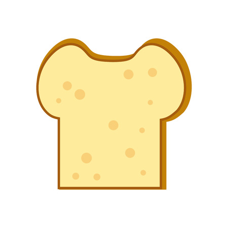 Delicious bread slice vector illustration graphic design 向量圖像
