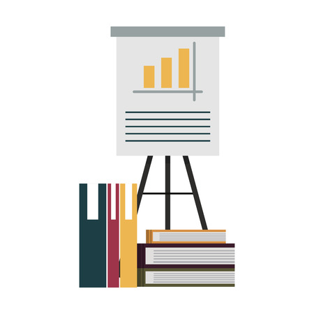 Statistics with files vector illustration graphic design